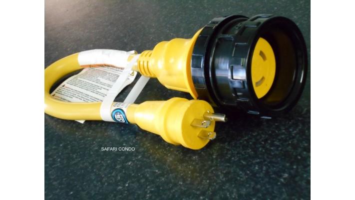 Adaptateur petite rallonge 30A à 15A