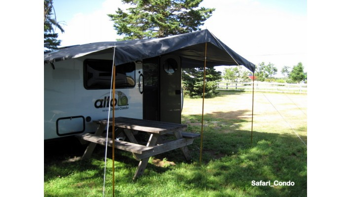 Removable 3 Post Awning Alto