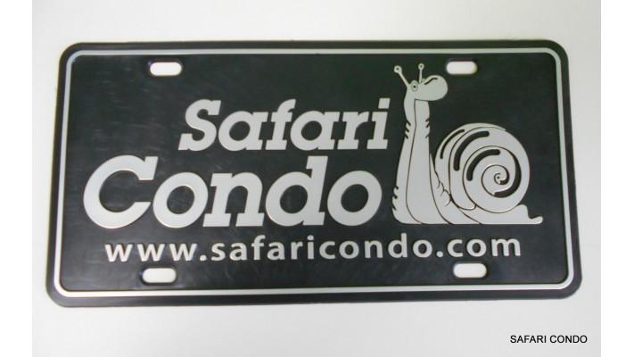 Plaque d'immatriculation Safari Condo