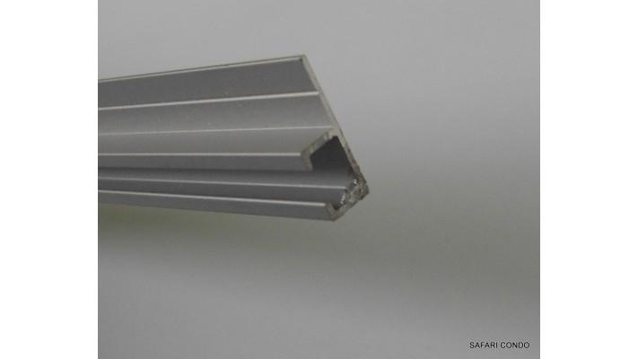 Rail pour rideau en aluminium (en pied)