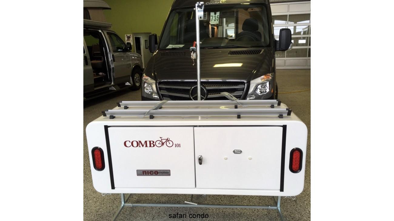 15 ft3 swivel aluminium cargo box with integrated bike rack. Black Bedroom Furniture Sets. Home Design Ideas
