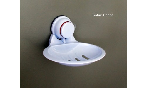 Soap dish with suction cup