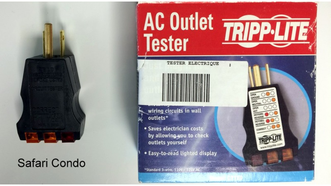 Circuit tester for 120 volts outlet